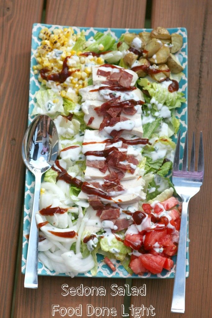 Use rotisseire chicken to make the best salad - Sedona Salad