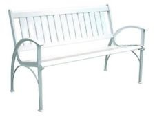 "New 50"" Aluminum Contemporary Outdoor Park Bench - White"