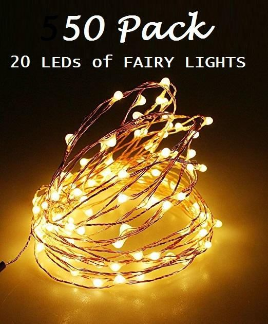 50 Pack of 20 LEDs Fairy Lights Wedding Decorations lights