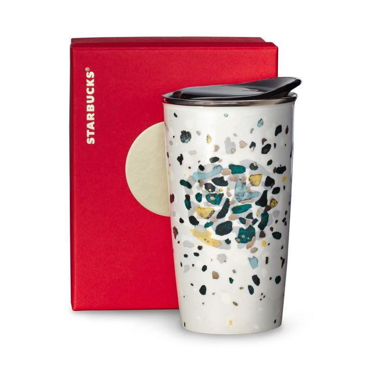 Starbucks Red Ceramic Travel Mug