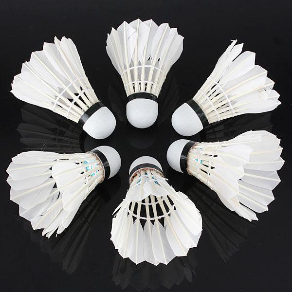 Carabiner 6 X Badminton De Pluma De Ganso Blanco Deporte De Juego De La Pelota Q: Bid: 13,54€ (£12.41) Buynow Price 13,54€ (£12.41)…