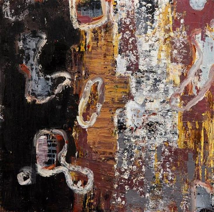 Abstract  Elisabeth Cummings, Oil on canvas, signed lower right, 122 x 122 cm