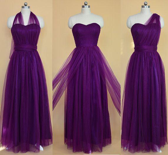 Long Convertible robe de demoiselle d'honneur par StarCustomDress