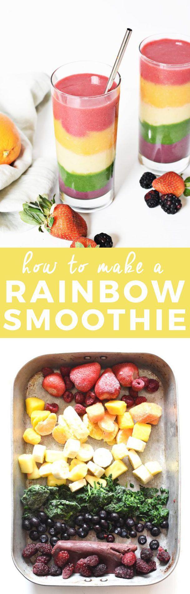 How to Make a Rainbow Smoothie | homemade smoothie recipes, smoothie recipe ideas, healthy smoothie recipes, fruit smoothie recipes, smoothie recipes, how to make a smoothie, smoothie recipe ideas || The Butter Half via @thebutterhalf