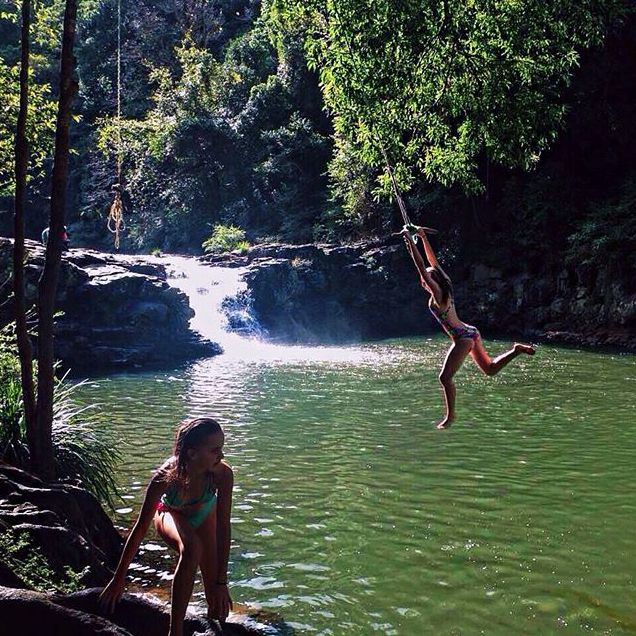 Maleny swimming hole Gardners falls