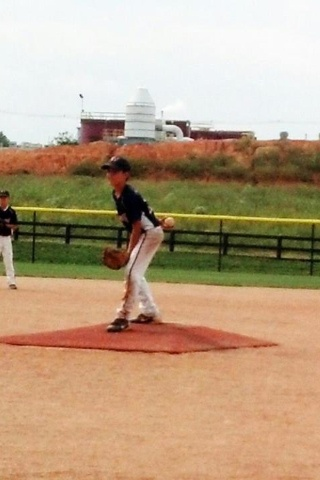 Karston pitching in E-town.