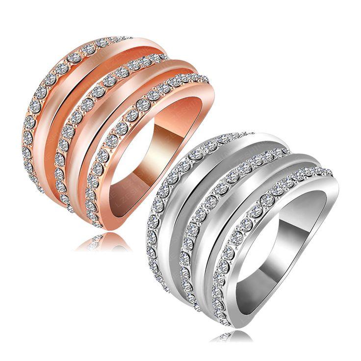 Encontrar Más Anillos Información acerca de Hot Finger venta anillo de 18 K Rose…