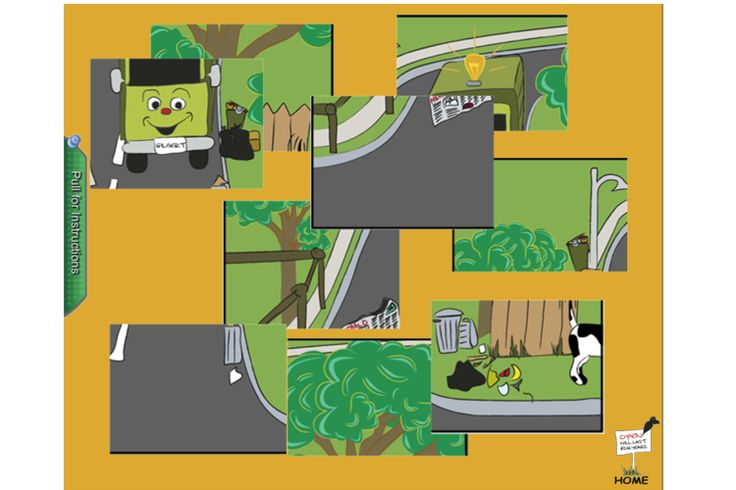 Move the puzzle pieces to create one of the gorgeous illustrations from the book. https://www.facebook.com/gilbertthegarbagetruck