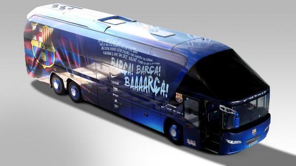 El himno del Barça inspira la nueva imagen del autocar del primer equipo