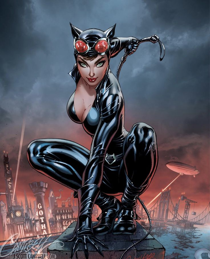 Catwoman by j scott campbell in 2020 catwoman scott