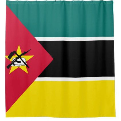 #Mozambique Flag Shower Curtain - #Bathroom #Accessories #home #living