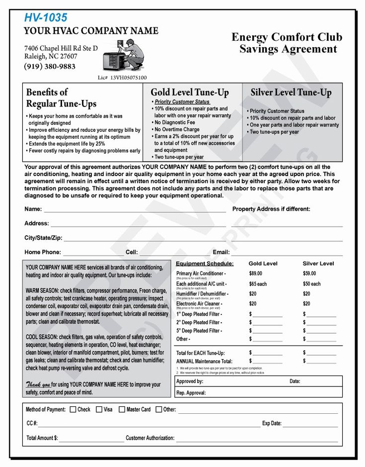 50 fresh free hvac maintenance contract template in 2020