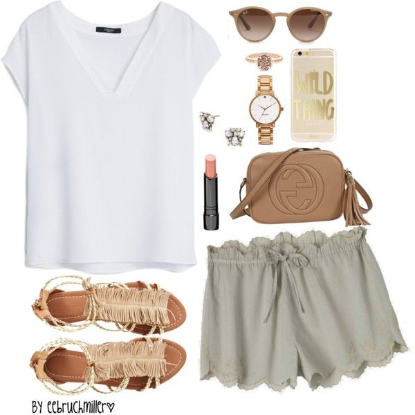 A fashion look from September 2015 featuring MANGO blouses, Toast shorts and Visconti & du Réau sandals. Browse and shop related looks.