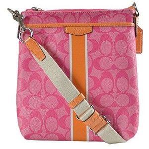 Coach Signature Stripe PVC Swingpack Crossbody Bag 51265