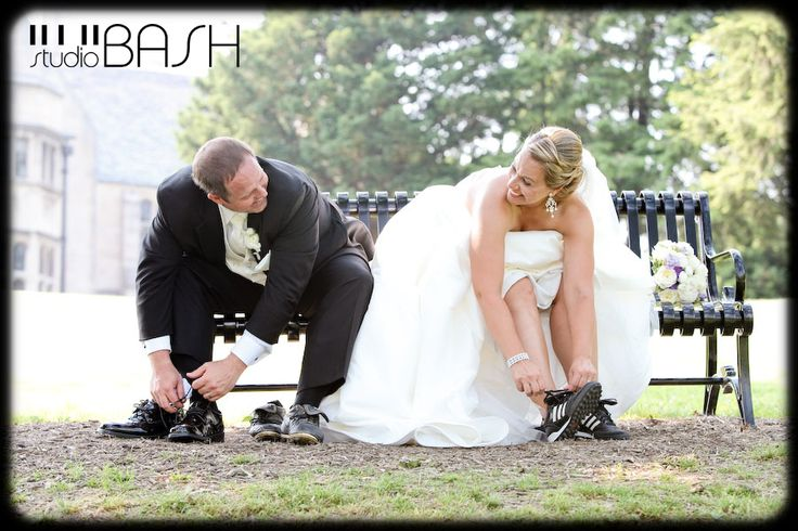 soccer engagement pictures | ... the bride and groom replace their wedding shoes for soccer cleats