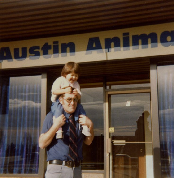 Little Me and My Dad in front of the Austin Animal Hospital in Coquitlam, BC. My parents were veterinarians here during my childhood.
