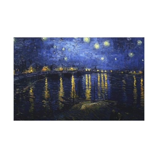 Van Gogh Starry Night Over the Rhone Fine Art Gallery Wrap Canvas
