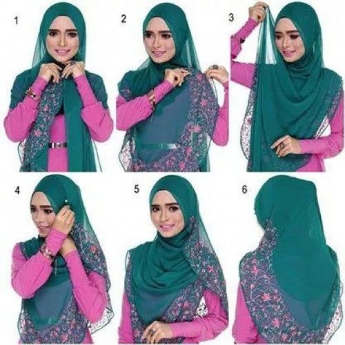 A whether large sheer hijab tutorial