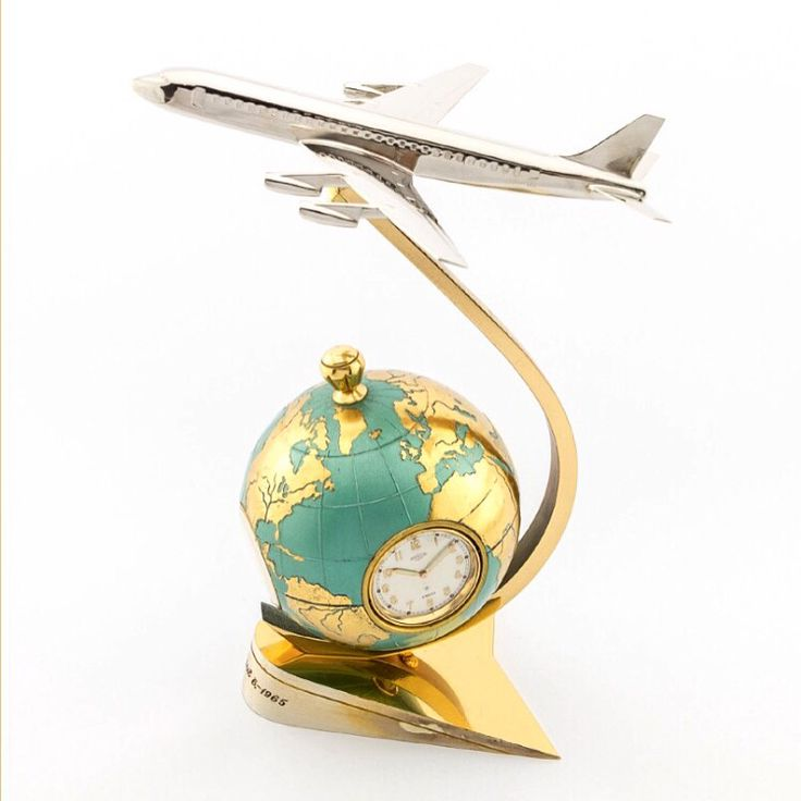 Very fine and rare Angelus swiss globe with an 8-day clock and weather station including thermometer, hygrometer and a barometer. Unique airplane design made in the 60ies, highly collectible.  Find more details at our website, watch-time ID 2618. #angelus #swiss #clock  #8days #60 #vintage #vintageclock #watch #vintagewatch #watches #luxury