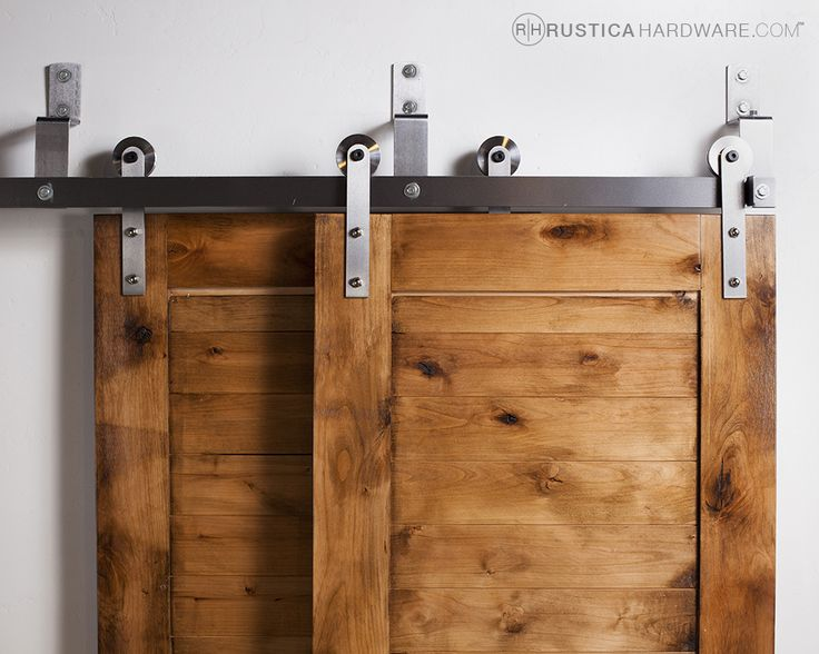 Bypass Barn Door Hardware Is Great System For Tight Spaces.  Https://rusticahardware