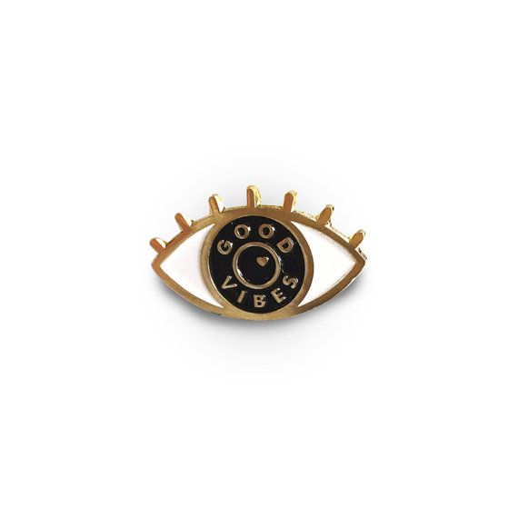 Eye See Good Vibes Enamel Lapel Pin by TheWildWildPress on Etsy
