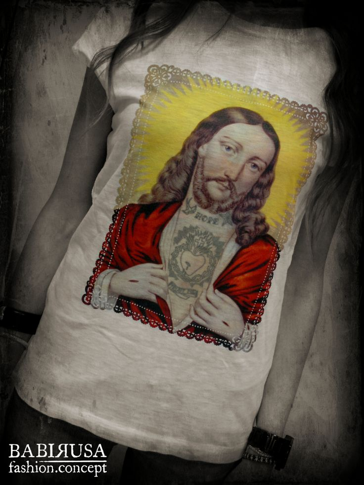 #tattoo is the new #religion - http://www.babirusa.it/products/t-shirt-cotone-jesus-tattoo