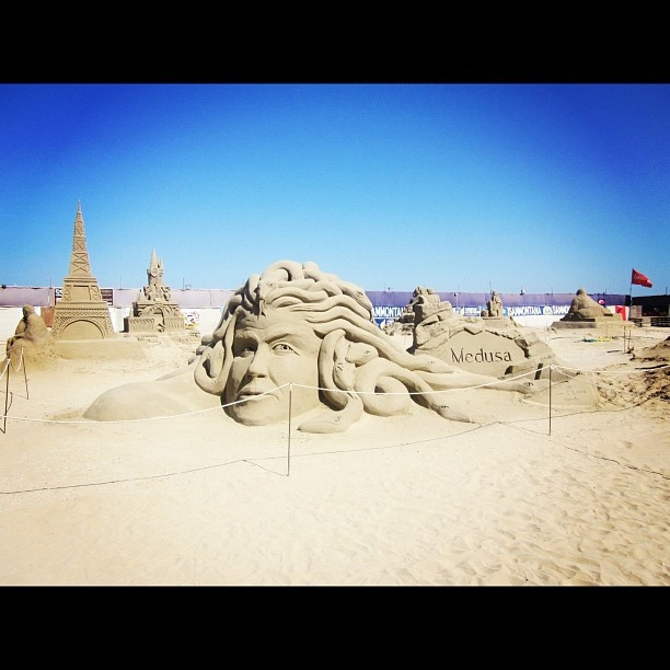 Master of sand sculptures