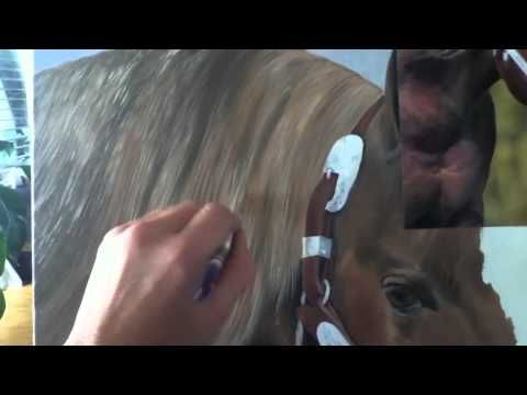 Mireille Desroches artiste peintre portraitiste animalier 3 - YouTube