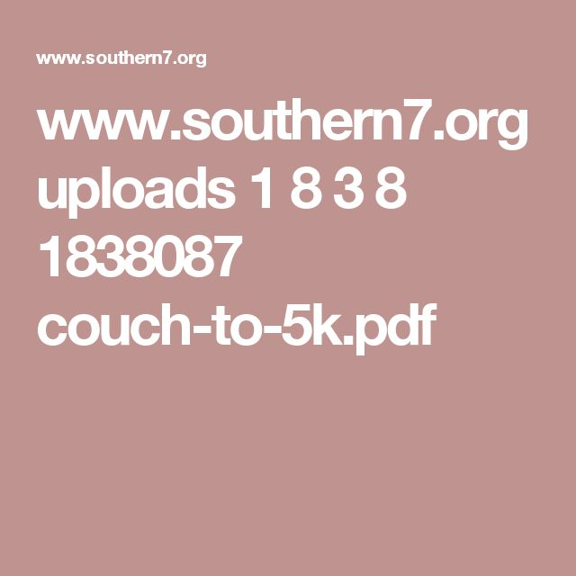 nhs couch to 5k pdf