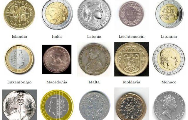 Los Tipos De Moneda Que Hay En Europa Paises En Europa Monedas Europa
