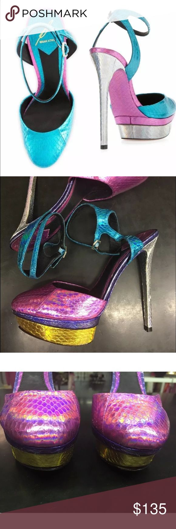 Selling this HOT Brian Atwood HOLOGRAM Fontenay Stiletto!! on Poshmark! My username is: chachagibson. #shopmycloset #poshmark #fashion #shopping #style #forsale #B Brian Atwood #Shoes