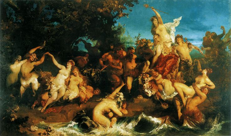 Makart Hans.  der triumph der Ariadne