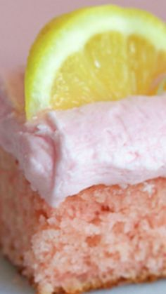 Deep South Pink Lemonade Cake with Lemon Butter Frosting Recipe !