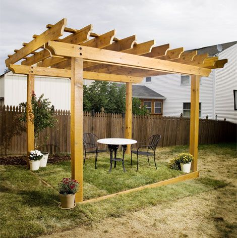 DIY Pergola Plans. Someday soon in my backyard! Since we have no trees, this is the next best thing!