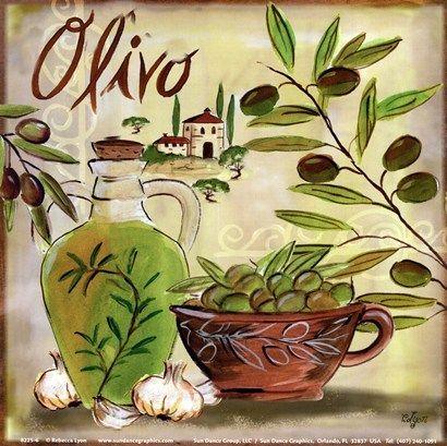 Olives II Fine-Art Print by Rebecca Lyon at UrbanLoftArt.com