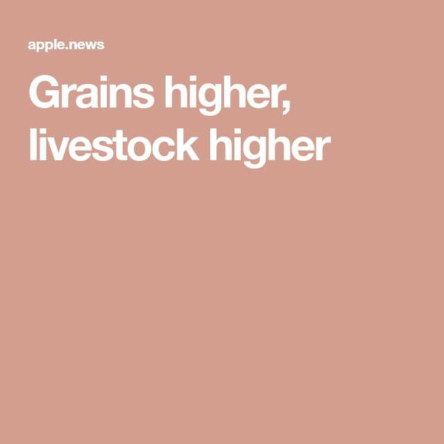 Grains higher, livestock higher