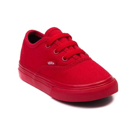 Shop for Toddler Vans Authentic Skate Shoe in Red Mono at Journeys Kidz. Shop today for the hottest brands in mens shoes and womens shoes at JourneysKidz.com.The Authentic from Vans is always in style. Pleasin little feet with a canvas upper, rubber waffle sole, and lace closures. Available only at Journeys Kidz!