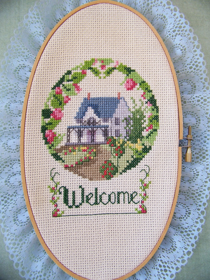 Welcome-Needlepoint. $19.95, via Etsy.