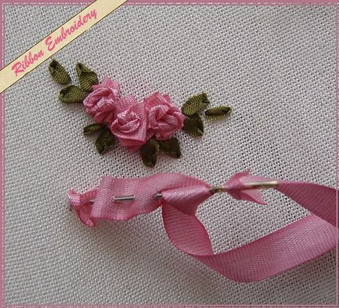 ribbon embroidery step by step - Google Search