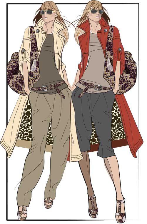 Fashion Illustration By Geoffry Gertz Men Women Pinterest