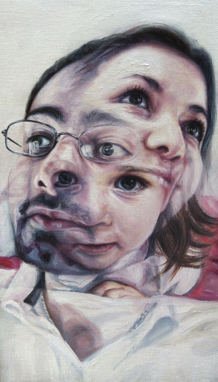 Lorena Teruel   De-construcción    35 x 20 cm    óleo sobre tela y madera