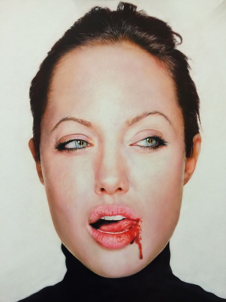 Another painting by Todd Simpson this one of Angeline  Jolie