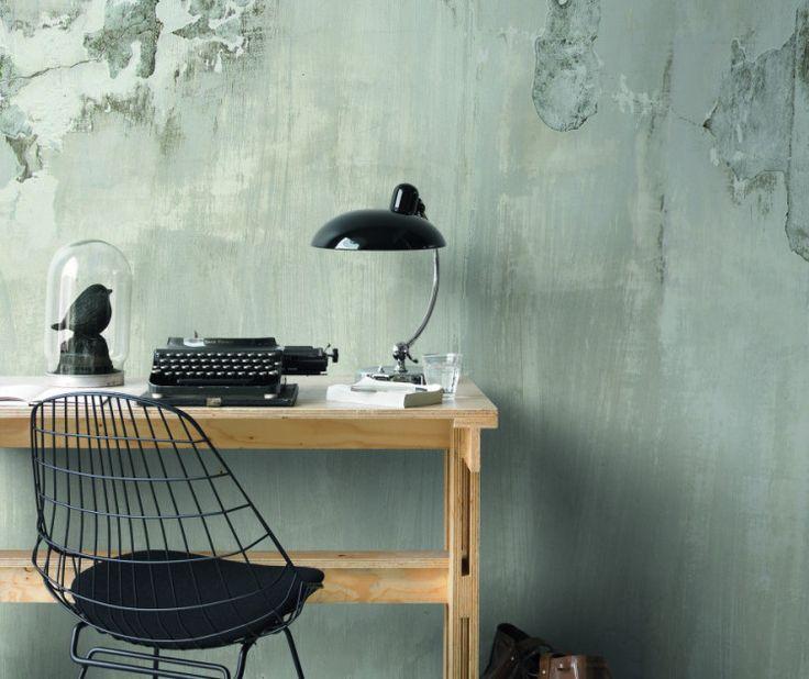 Wallpaper: Midbec Factory tapet industi rå betong avskalat grå ruff yta