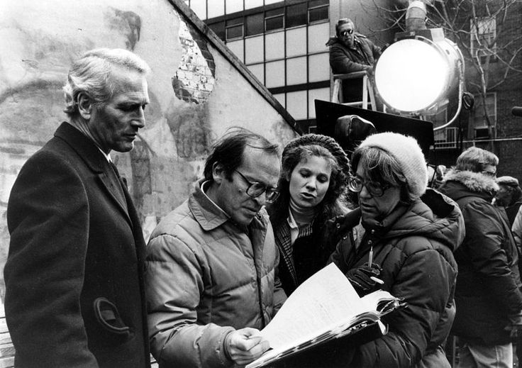 """Sidney Lumet reviews a scene of """"The Verdict"""" with Paul Newman and Lindsay Crouse."""