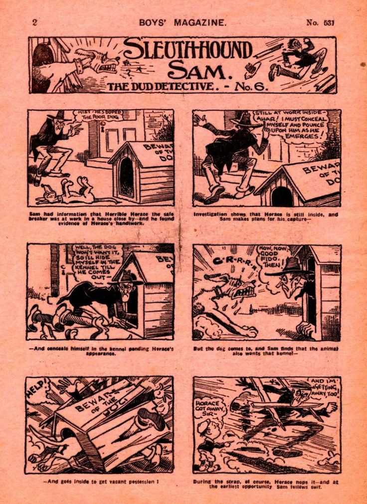 BRITISH GOLDEN AGE COMICS 1939-1951: Sleuth-Hound Sam The Dud Detective no. 6