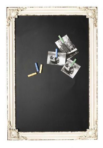 White Baroque Magnetic Chalkboard