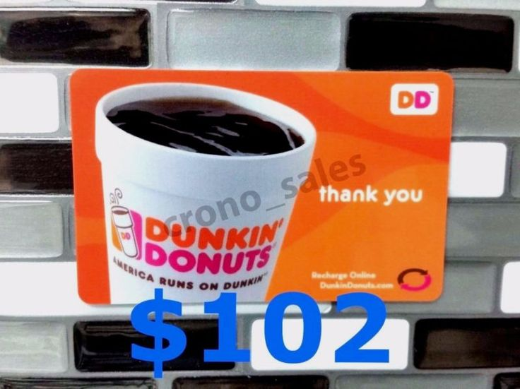 Free USPS Priority Mail Shipping with Tracking Number DUNKIN' DONUTS$102Physical plastic gift card mailed to your doorSame Day Shipping *** IMPORTANT ... #priority #mail #shipping #free #card #donuts #gift #dunkin