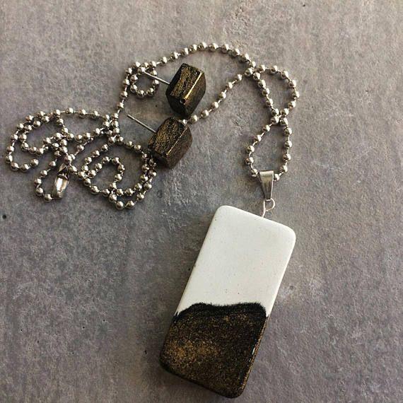 Geometric earrings  pendant  Minimalist gift for her