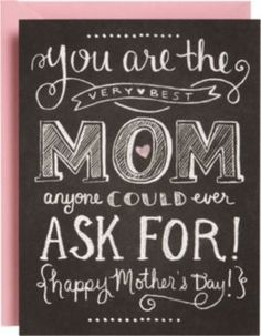 Chalkboard Mother's Day Card