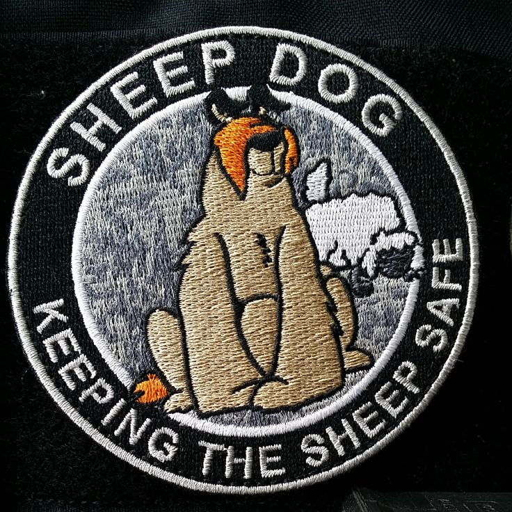 """3.5""""+Sheepdog+""""Protecting+The+Sheep""""+morale+patch.+(Subdued)+ Velcro+backed Free+US+shipping"""
